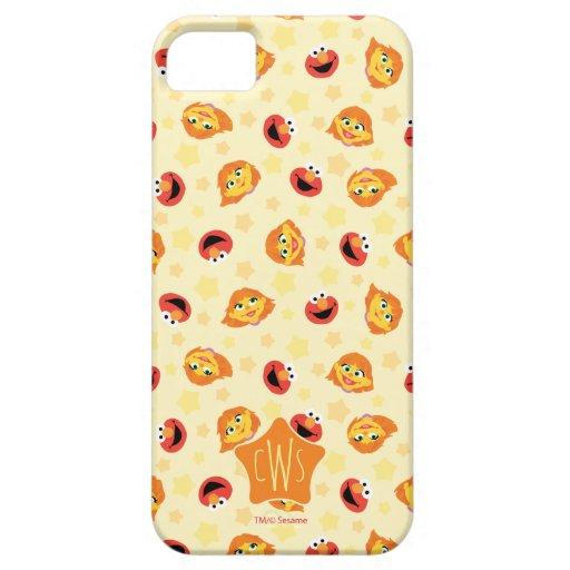 Sesame Street | Julia & Elmo Yellow Star Pattern iPhone SE/5/5s Case