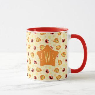 Sesame Street   Julia & Elmo Yellow Star Pattern Mug