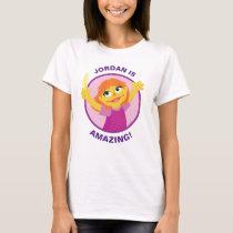 Sesame Street | Julia Holding Feather T-Shirt