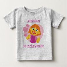 Sesame Street   Julia Pink Heart Baby T-Shirt