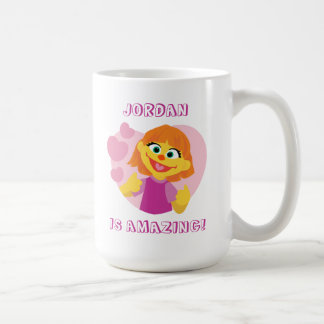 Sesame Street   Julia Pink Heart Coffee Mug