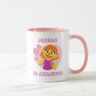 Sesame Street   Julia Pink Heart Mug