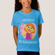 Sesame Street   Julia Pink Heart T-Shirt