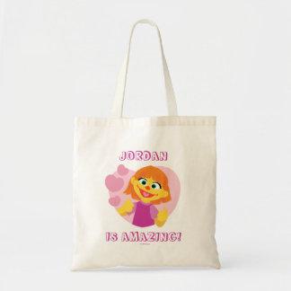 Sesame Street   Julia Pink Heart Tote Bag