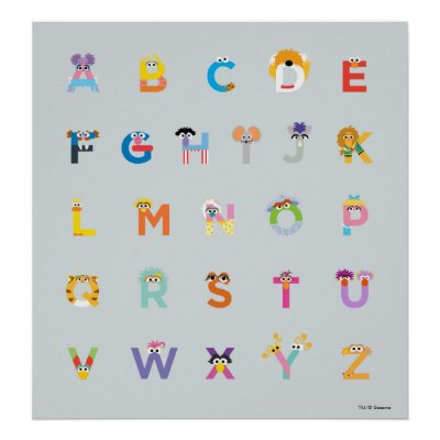 Sesame Street Letters Of The Alphabet All Over Print Tank Top