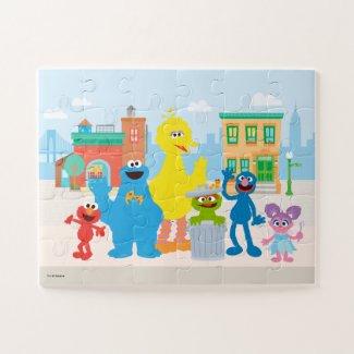 Sesame Street | Neighborhood Scene - Kids Jigsaw Puzzle