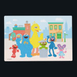 "Sesame Street | Neighborhood Scene Placemat<br><div class=""desc"">Decorate your child&#39;s room with this Sesame Street Neighborhood Scene featuring Elmo,  Cookie Monster,  Big Bird,  Oscar the Grouch,  Grover and Abby.</div>"