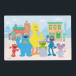 "Sesame Street | Neighborhood Scene Placemat<br><div class=""desc"">Decorate your child's room with this Sesame Street Neighborhood Scene featuring Elmo,  Cookie Monster,  Big Bird,  Oscar the Grouch,  Grover and Abby.</div>"