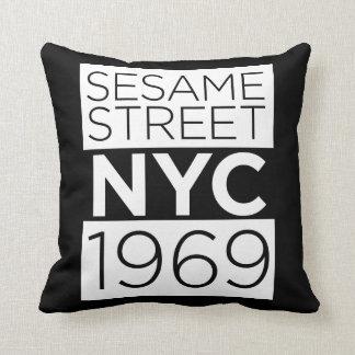Sesame Street NYC Throw Pillow