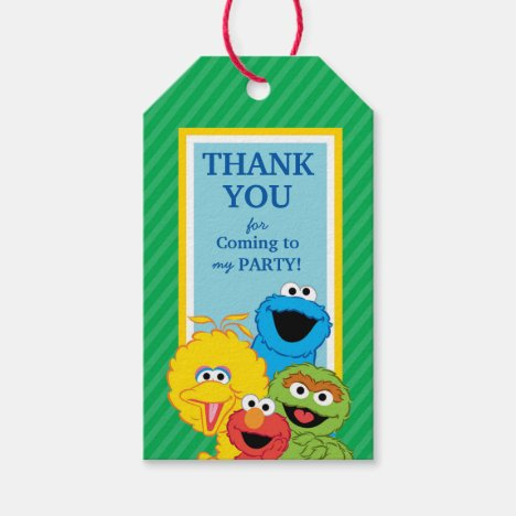 Sesame Street Pals Birthday Gift Tags