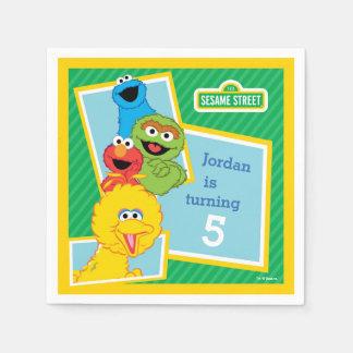 Sesame Street Pals Birthday Paper Napkin