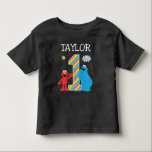 """Sesame Street Pals Chalkboard Rainbow 1st Birthday Toddler T-shirt<br><div class=""""desc"""">Customize this super cute t-shirt design brought to you by Sesame Street. This is the perfect party t-shirt for the birthday boy or girl,  for kids of all ages.</div>"""