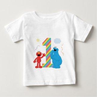 Sesame Street Pals Chalkboard Rainbow 1st Birthday Toddler T-shirt