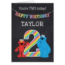 Sesame Street Pals Chalkboard Rainbow 2nd Birthday