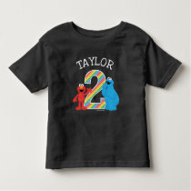 Sesame Street Pals Chalkboard Rainbow 2nd Birthday Toddler T-shirt