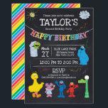"Sesame Street Pals Chalkboard Rainbow Birthday Card<br><div class=""desc"">Sesame Street Pals Chalkboard Rainbow Birthday</div>"