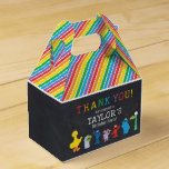 """Sesame Street Pals Chalkboard Rainbow Birthday Favor Box<br><div class=""""desc"""">Customize this Sesame Street Pals Chalkboard Rainbow Birthday favor box with your child's name.</div>"""