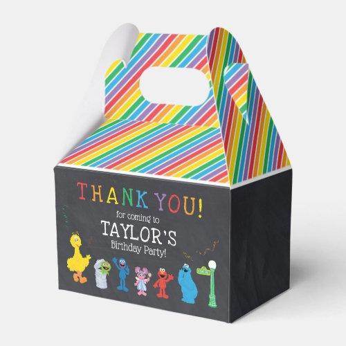 Sesame Street Pals Chalkboard Rainbow Birthday Favor Box