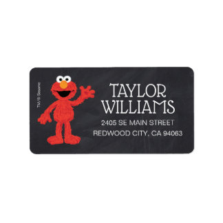 Sesame Street Pals Chalkboard Rainbow Birthday Label