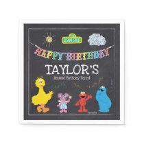 Sesame Street Pals Chalkboard Rainbow Birthday Paper Napkin