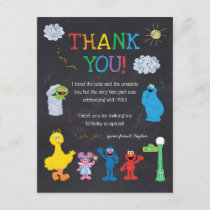 Sesame Street Pals Chalkboard Rainbow Thank You