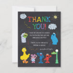 """Sesame Street Pals Chalkboard Rainbow Thank You<br><div class=""""desc"""">Thank all your family and friends for coming to your child's Sesame Street themed birthday with these colorful Thank You notes.   © 2021 Sesame Workshop. www.sesamestreet.org</div>"""