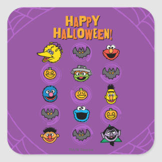 Sesame Street Pals - Happy Halloween! Square Sticker