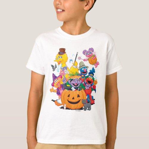 Sesame Street Pals  Happy Halloween T_Shirt