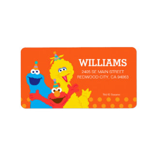 Sesame Street Pals Label