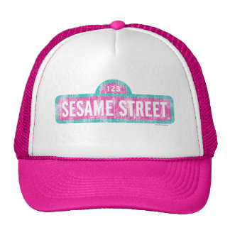 Sesame Street Pink Sign Logo Mesh Hat
