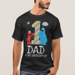 "Sesame Street Rainbow 1st Birthday | Dad T-Shirt<br><div class=""desc"">Customize this super cute t-shirt design brought to you by Sesame Street. This is the perfect party t-shirt for the birthday Dad of the Birthday Girl or Boy.</div>"