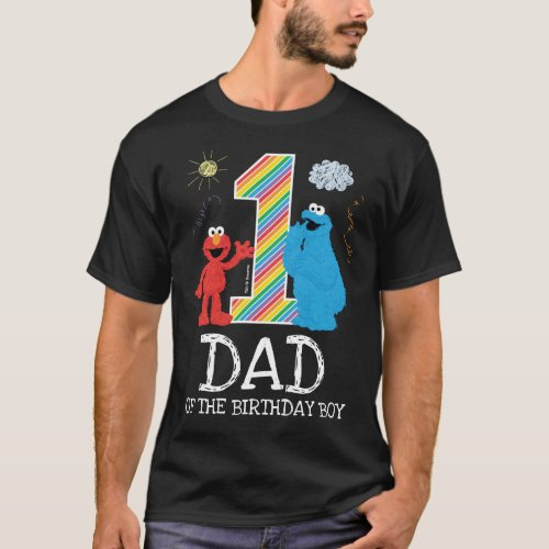 Sesame Street Rainbow 1st Birthday  Dad T_Shirt