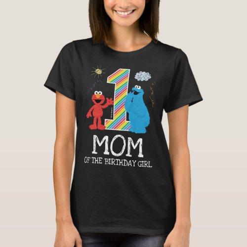 Sesame Street Rainbow 1st Birthday  Mom T_Shirt