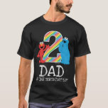 """Sesame Street Rainbow 2nd Birthday   Dad T-Shirt<br><div class=""""desc"""">Customize this super cute t-shirt design brought to you by Sesame Street. This is the perfect party t-shirt for the birthday Dad of the Birthday Girl or Boy.   © 2021 Sesame Workshop. www.sesamestreet.org</div>"""