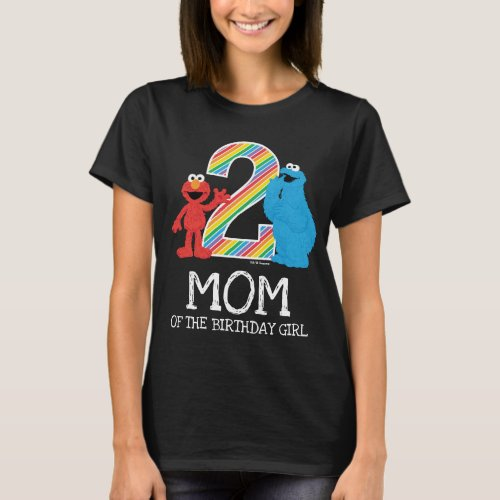 Sesame Street Rainbow 2nd Birthday  Mom T_Shirt