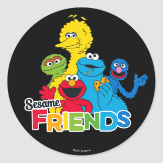 Sesame Street   Sesame Friends Classic Round Sticker
