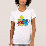 """Sesame Street   Sesame Friends T-Shirt<br><div class=""""desc"""">Oscar the Grouch,  Elmo,  Cookie Monster,  Big Bird &amp; Grover in a bright design.   &#169; 2017 Sesame Workshop. www.sesamestreet.org</div>"""