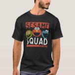 "Sesame Street - Sesame Squad T-Shirt<br><div class=""desc"">Oscar the Grouch,  Elmo and Cookie Monster is the cutest squad on the street.   &#169; 2017 Sesame Workshop. www.sesamestreet.org</div>"