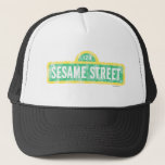 "Sesame Street Sign Trucker Hat<br><div class=""desc"">Check out this Sesame Street retro yellow logo!        This item is recommended for ages 13 . &#169;  2014 Sesame Workshop. www.sesamestreet.org</div>"