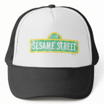 Sesame Street Sign Trucker Hat