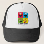 "Sesame Street | The Original Cool Kids Trucker Hat<br><div class=""desc"">Elmo,  Cookie Monster,  Oscar the Grouch,  Big Bird in a bright,  squared design. | &#169; 2017 Sesame Workshop. www.sesamestreet.org</div>"