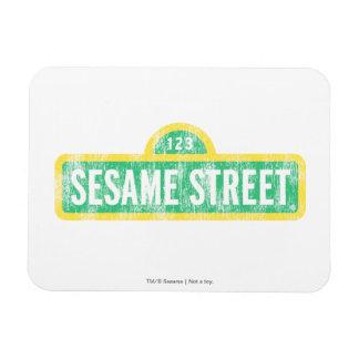 Sesame Street Yellow Sign Logo Rectangular Photo Magnet
