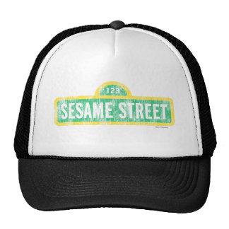 Sesame Street Yellow Sign Logo Trucker Hat