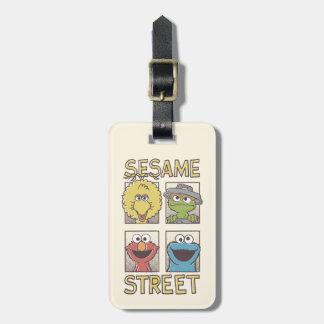 Sesame StreetVintage Character Comic Luggage Tag