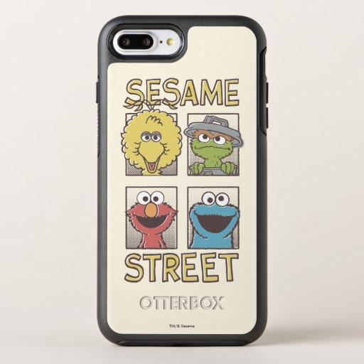 Sesame StreetVintage Character Comic OtterBox Symmetry iPhone 8 Plus/7 Plus Case