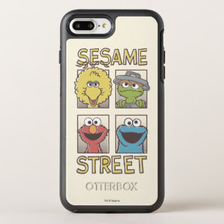 Sesame StreetVintage Character Comic OtterBox Symmetry iPhone 7 Plus Case