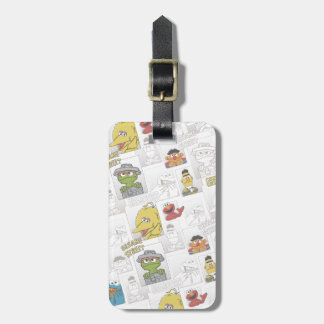 Sesame StreetVintage Comic Pattern Bag Tag