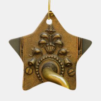 Sésamo abierto adorno navideño de cerámica en forma de estrella