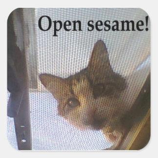 ¡Sésamo abierto! Pegatina Cuadrada