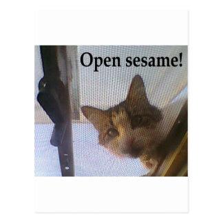 ¡Sésamo abierto! Postal